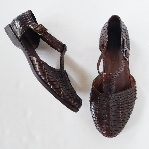Cole Haan Shoes - Cole Haan Resort Brown Woven Leather Sandals 8.5M